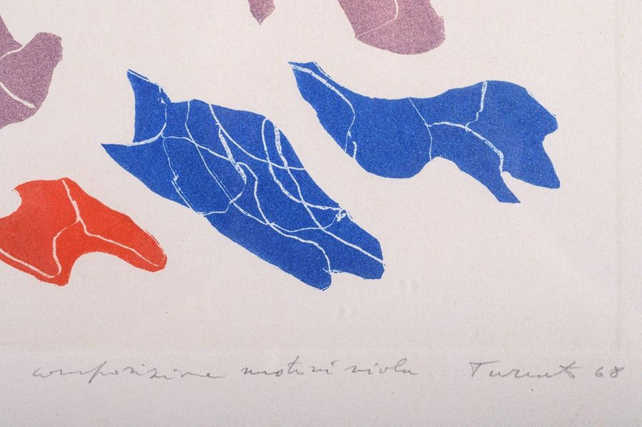 Giulio Turcato ( 19 12 1995) Abstract 1968color lithograph on paperedition 26/50…