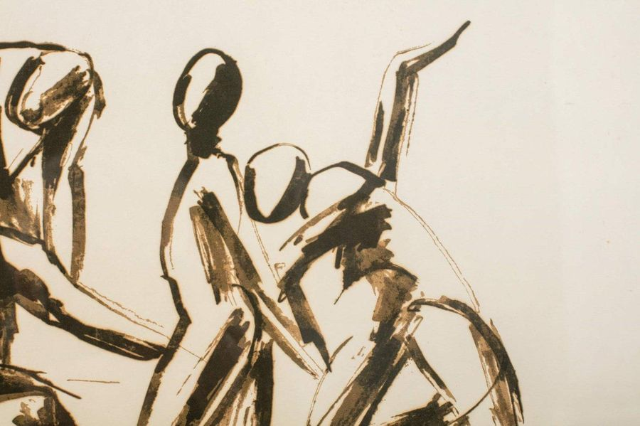 Pericle Fazzini ( 19 13 1987) Dancers 198 1three screen prints on papersigned in…