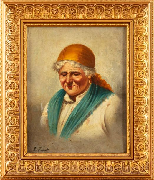 Pair of elderly portraits late 19th centuryoil painting on canvassigned, framed3…