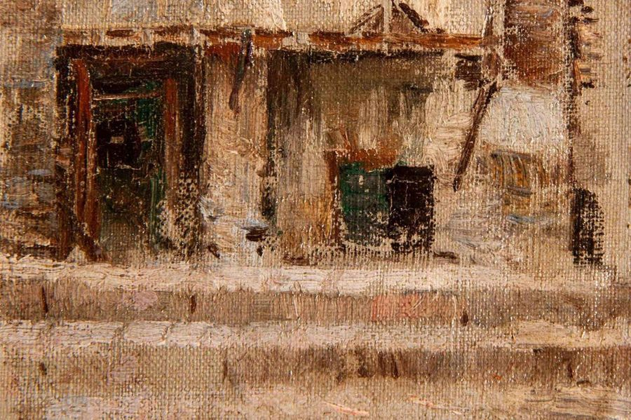 Antonio Reyna Manescau (1859 1937) (Att.) Courtyard of Via Marguttaearly 20th ce…