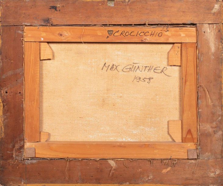 Max Günther (1934 1974) Crossroadssecond half of the 20th century oil painting o…