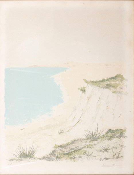 Glimpse of the coast20th century lithograph on paperE.A., signed in pencil, fram…