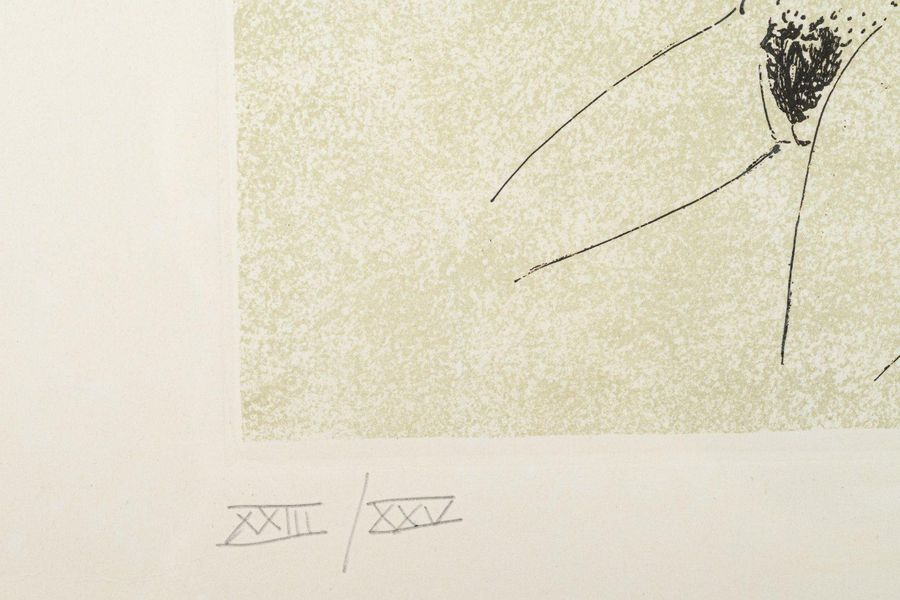 Sergio Vacchi (1925 2016) Without title etching and screen printing on paperedit…