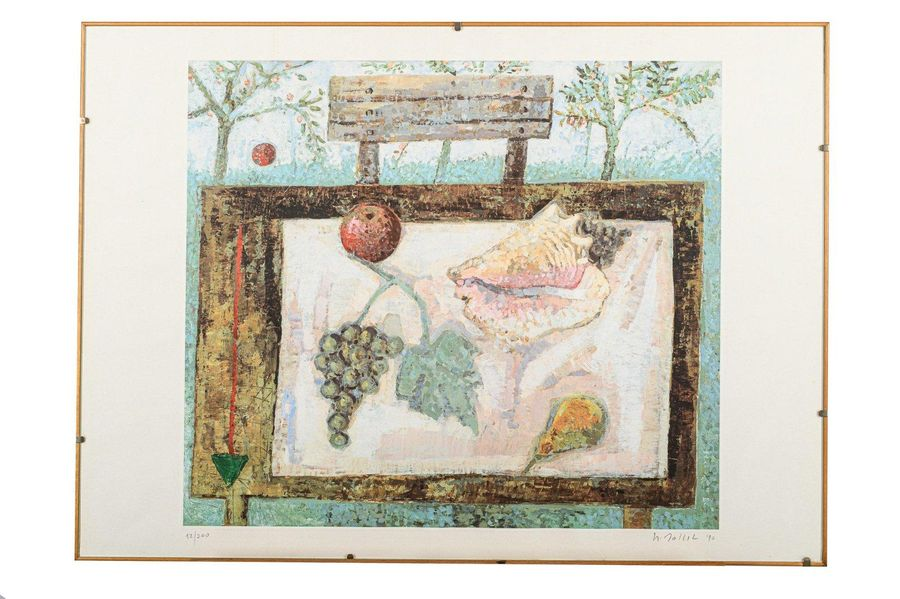 Still life1990 color lithograph on paperedition 12/200, signed in pencil, framed…