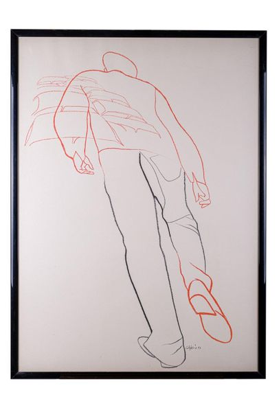 Figure of man1993 color lithograph on papersigned in pencil and dated, framed98 …