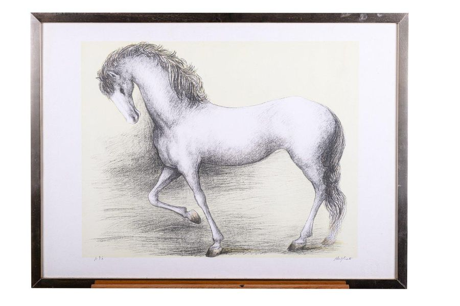 Domenico Purificato (1915 1984) Horse color lithograph on paperP.A., signed in p…