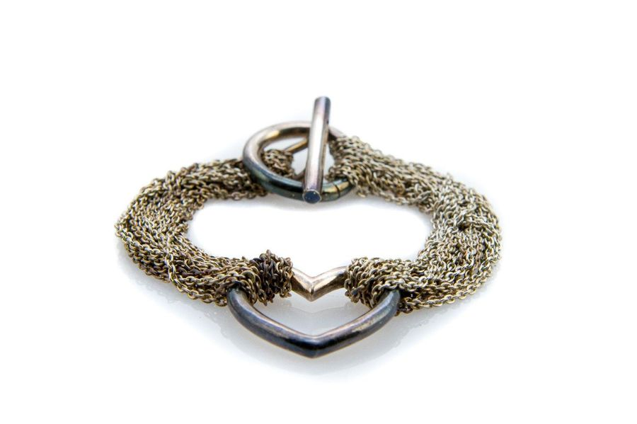 925 silver bracelet model Tiffany & Co consisting of two groups of chains that s…
