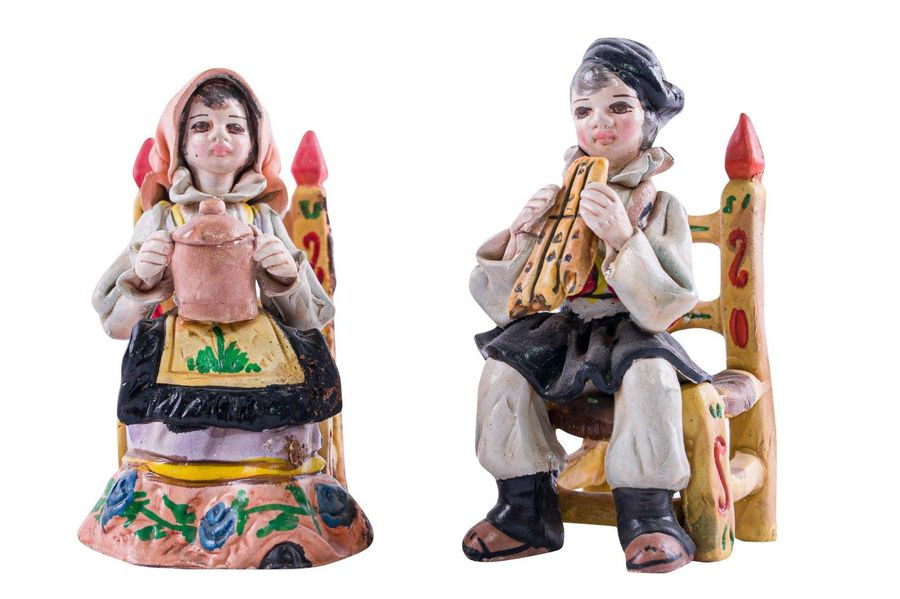 Lot of two terracotta sculptures A. MassiddaSardinian manufacture, second half o…