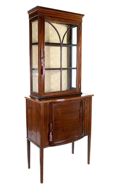 Small bookcase in mahogany woodEngland, mid 19th century fruit wood threads, wit…