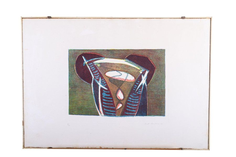 Placido Scandurra (1947 ) Without title color lithograph on paper2/20 edition, s…