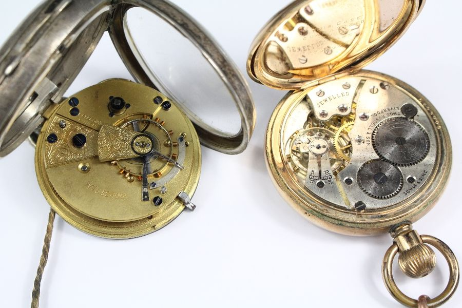 Two Pocket Watches, including a gold plated Thomas Russell & Son Liverpool pocke…