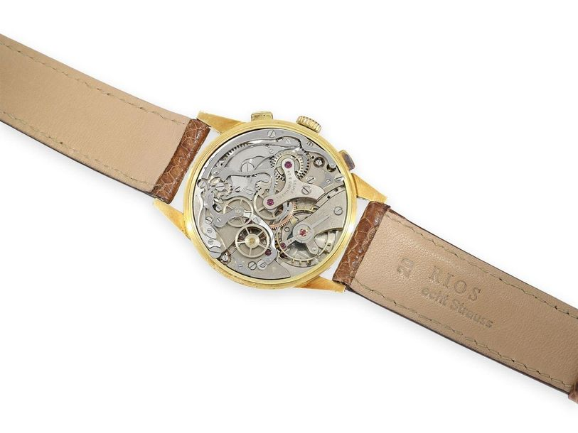 Ca. Ø39mm, 18K gold, pressed back, serial number 36001 720, manual winding, rare…