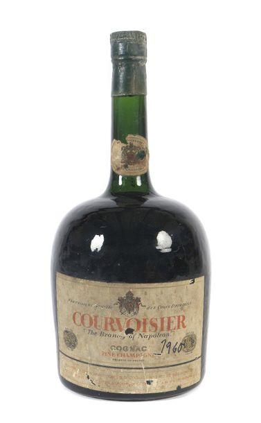 1 Flasche Courvoisier Cognac, ''the Brandy of Napoleon'', fine Champagne, wohl 1…