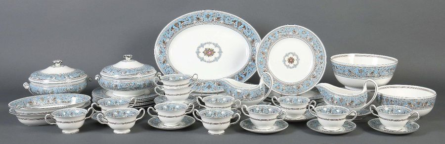 Speiseservice ''Florentine Turquoise'' Wedgwood, E: 1931, A: 2. Hälfte 20. Jh., …