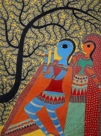 Specifications:  Madhubani Painting on Hand Made Paper  Folk Painting from the V…