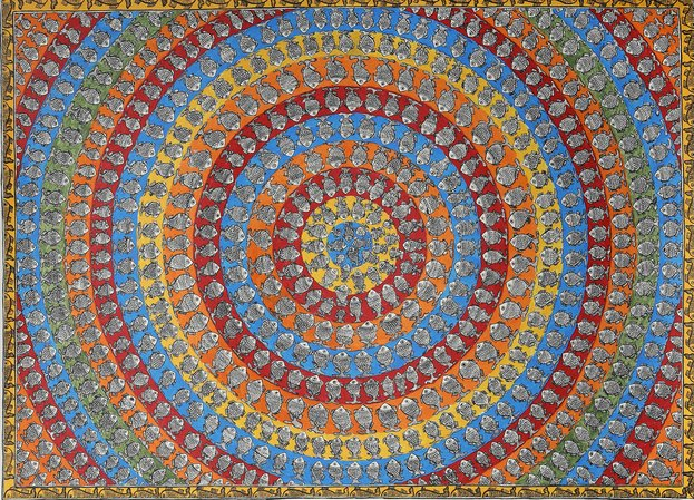 In only folk art could a subject so simplistic be treated with such complex styl…