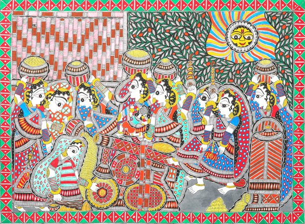 Madhubani paintings are unique art pieces that originated from Mithila in the Bi…