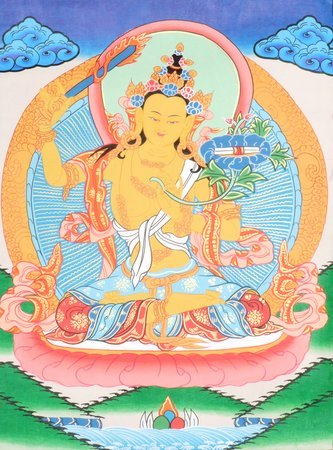 Manjushri Tibetan Buddhist Deity Manjushri is a Bodhisattva (one on the way to B…