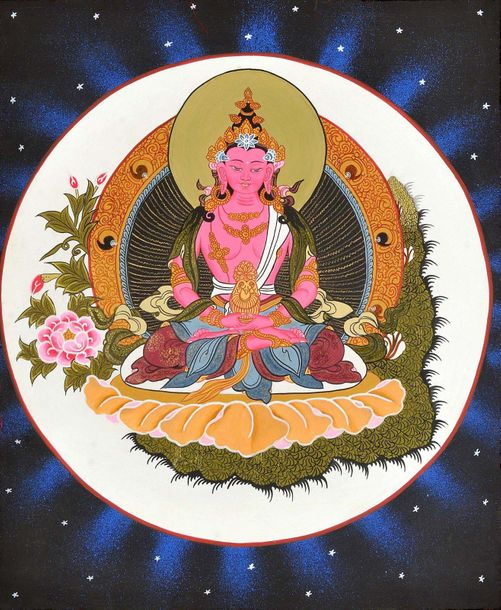 Tibetan Buddhist Deity Amitabha as Amitayus Buddha Amitayus or the Buddha of Lim…