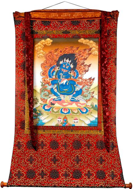 Dandapani Two Armed Pangarnatha Mahakala Tibetan Buddhist Specifications:  Tibet…