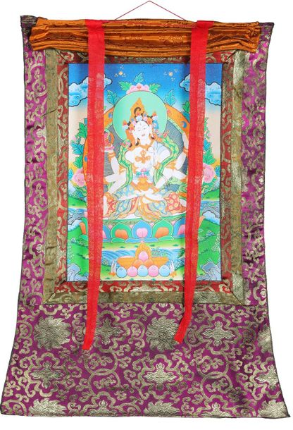 Tibetan Buddhist Vasudhara Goddess of Good Luck and Knowledge Specifications:  T…