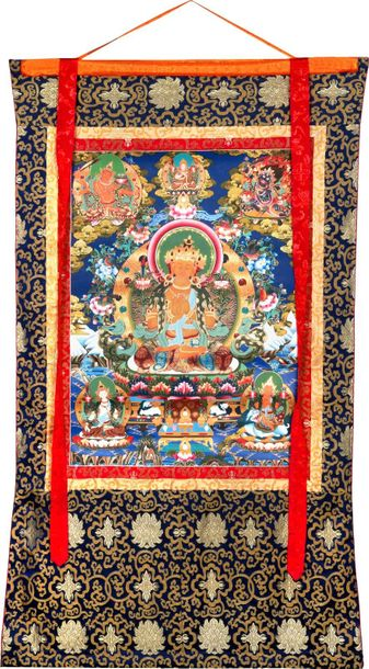 The Crimson Halo Of The Bodhisattva Manjushri The heavens of an ethereal blue co…