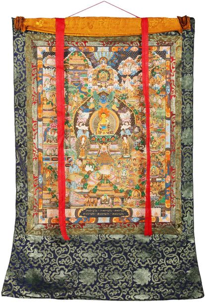 Gautam Buddha On The Six Ornament Throne of Enlightenment with Scenes from His L…
