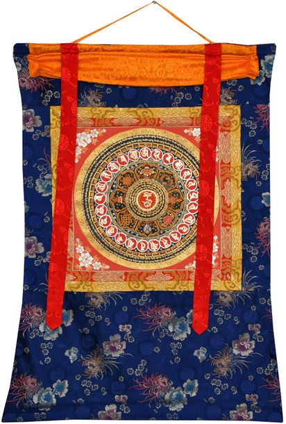 OM Mandala with Ashtamangala Symbols The Om is the holiest sound for Hindu and B…