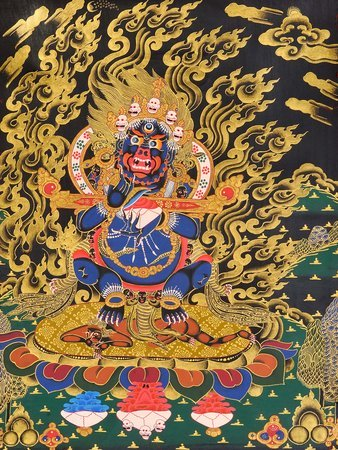 Mahakala Panjaranatha (Lord of the Pavilion) Tibetan Buddhist Specifications:  T…