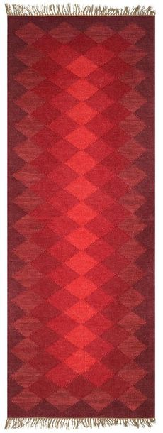 Runner from Mirzapur with Self Weave in Shades of Red Mirzapur is known for its …