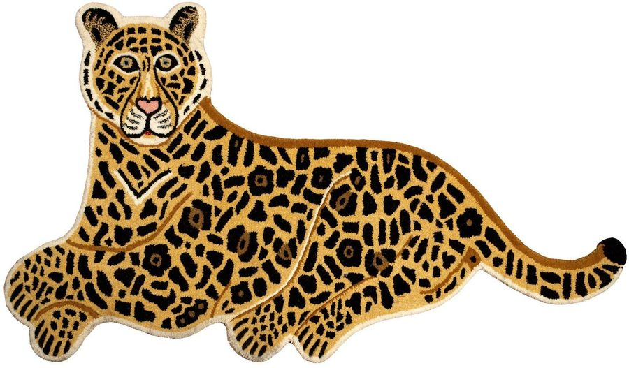Jaguar Yogic Asana Mat from Mirzapur This jaguar would be sitting at regal ease …