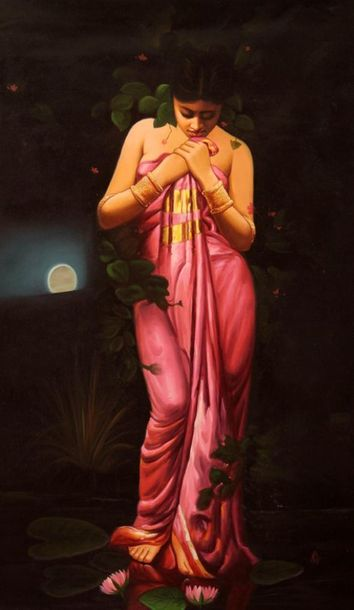 Midnight at the Lotus Pond Indian artists have always believed in carrying meani…