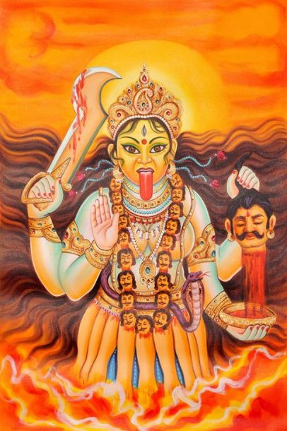 Goddess Kali Artist Anup Gomay has captured to perfection the glory of Goddess K…