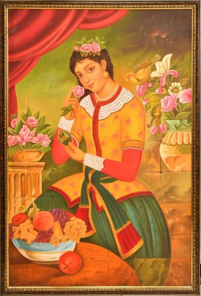 Beauty with Flowers & Fruits (Framed) However small, the picture clearly shows t…