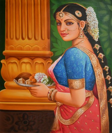 Gaze Of Womanly Devotion It is custom for Indian women to bathe themselves in th…