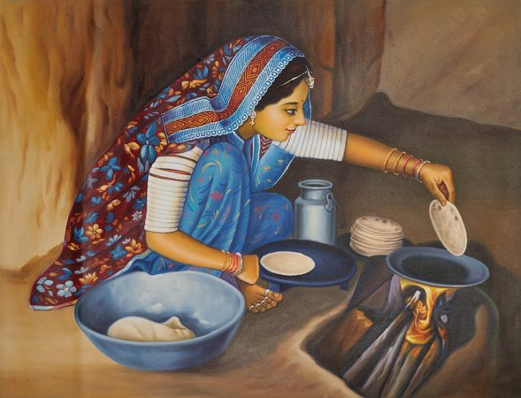 Rustic Woman Tending To Her Home There is so much elegance to the simple image o…