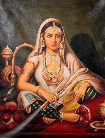 The Eldest Bahuraani With Her Hookah She lacks neither beauty nor wealth. A powe…