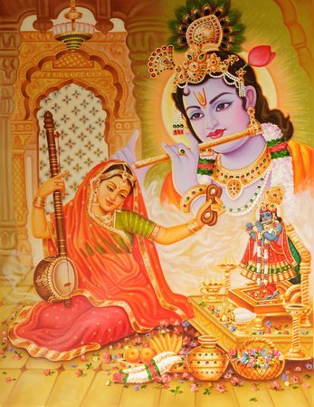 Mirabai and Krishna Such was the depth of Mirabai's devotion that it commanded t…