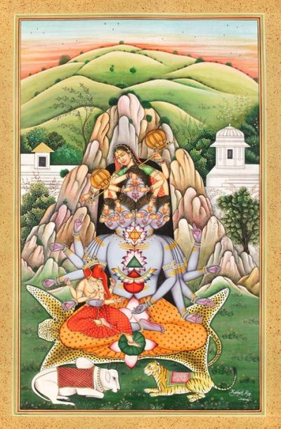 The Birth Of Andhaka, From Devi Parvati's Playfulness Upon Mandara Parvat On a w…