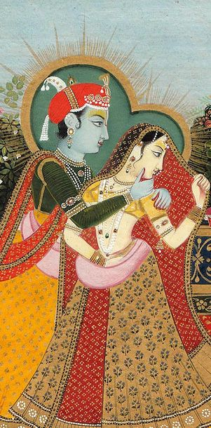 Inspired by Radha and Krishna. . . . Specifications:  Watercolor on Paper  7.3 i…