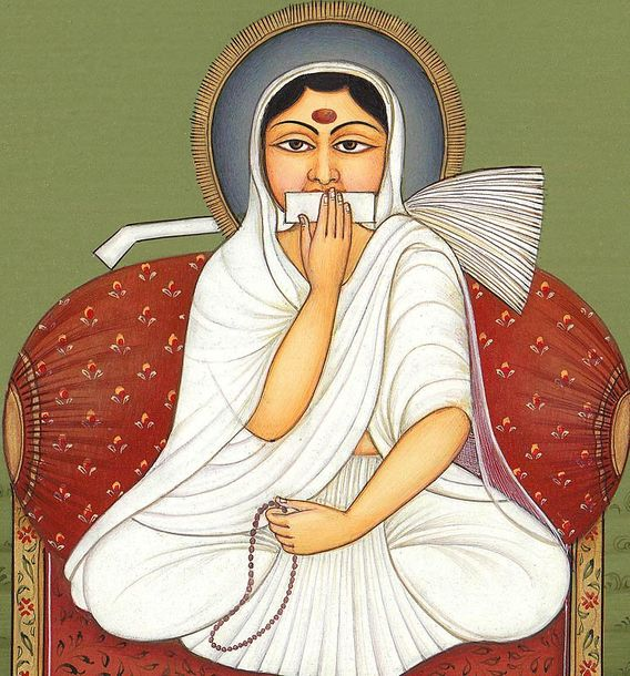 A Jain Sadhavi from Svetambara Sect Specifications:  Water Color on Paper  Artis…