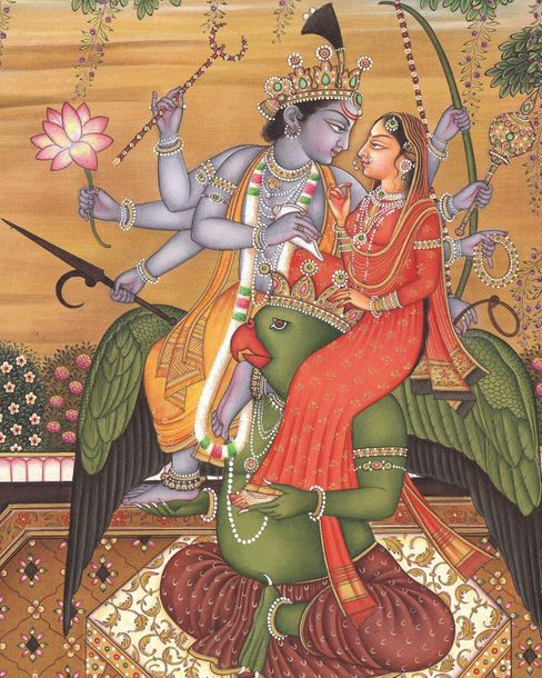 Vishnu Lakshmi On The Shoulders Of Lord Garuda Lord Vishnu and Mother Lakshmi ar…