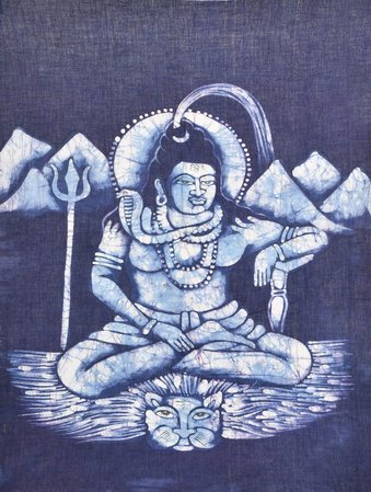 Veerasana Lord Shiva The powerful and destructive Lord Shiva is in a quiet, gath…
