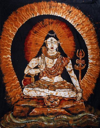 Lord Shiva In Samadhi The quiet, gathered Lord Shiva is seated in eternal contem…