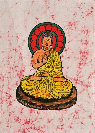 Gautam Buddha Specifications:  Batik Painting On Cotton  30.0 inch x 22.0 inch  …