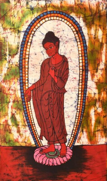 Standing Buddha, In Seedless Calm Seemingly simplistic, batik is an ancient form…