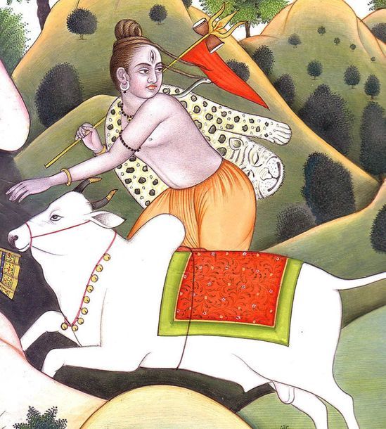 Demon Vraka Chasing Shiva Specifications:  Water Color Painting on Paper  Artist…