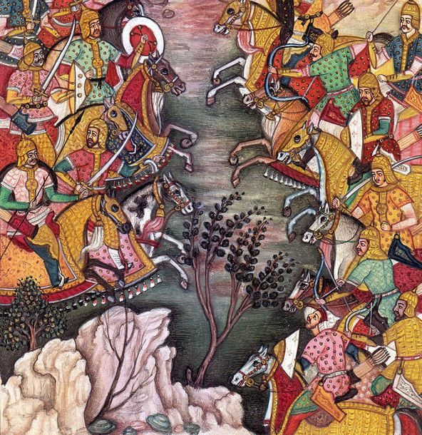 Battle Scene Specifications:  Watercolor Painting on Paper  Artist: Navrang  6.5…