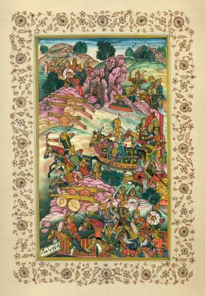 The Battle of Panipat Specifications:  Watercolor on Paper  Artist: Navrang  7.0…