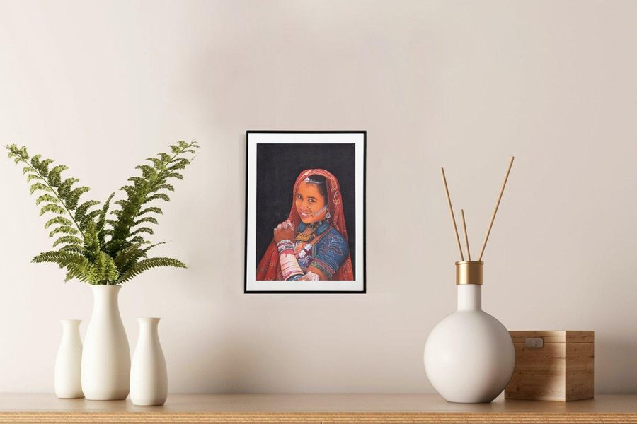 Gypsies of India Series 4 This painting displays a beautiful contemporary art, c…